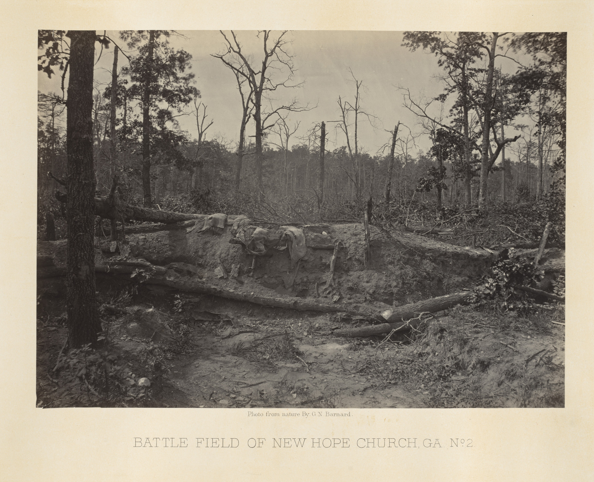 George Barnard. Battlefield of the New Hope Church, Georgia, No. 2 from the album Photographic Views of Sherman's Campaign. 1864-65