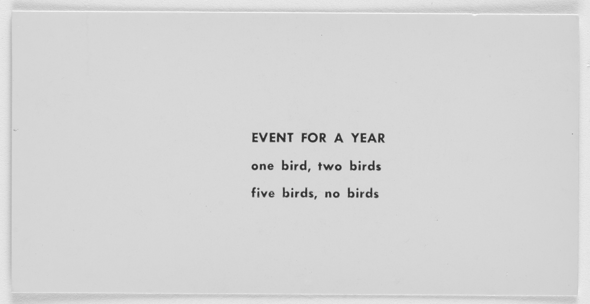 Robert Watts. Event for a Year. c. 1962