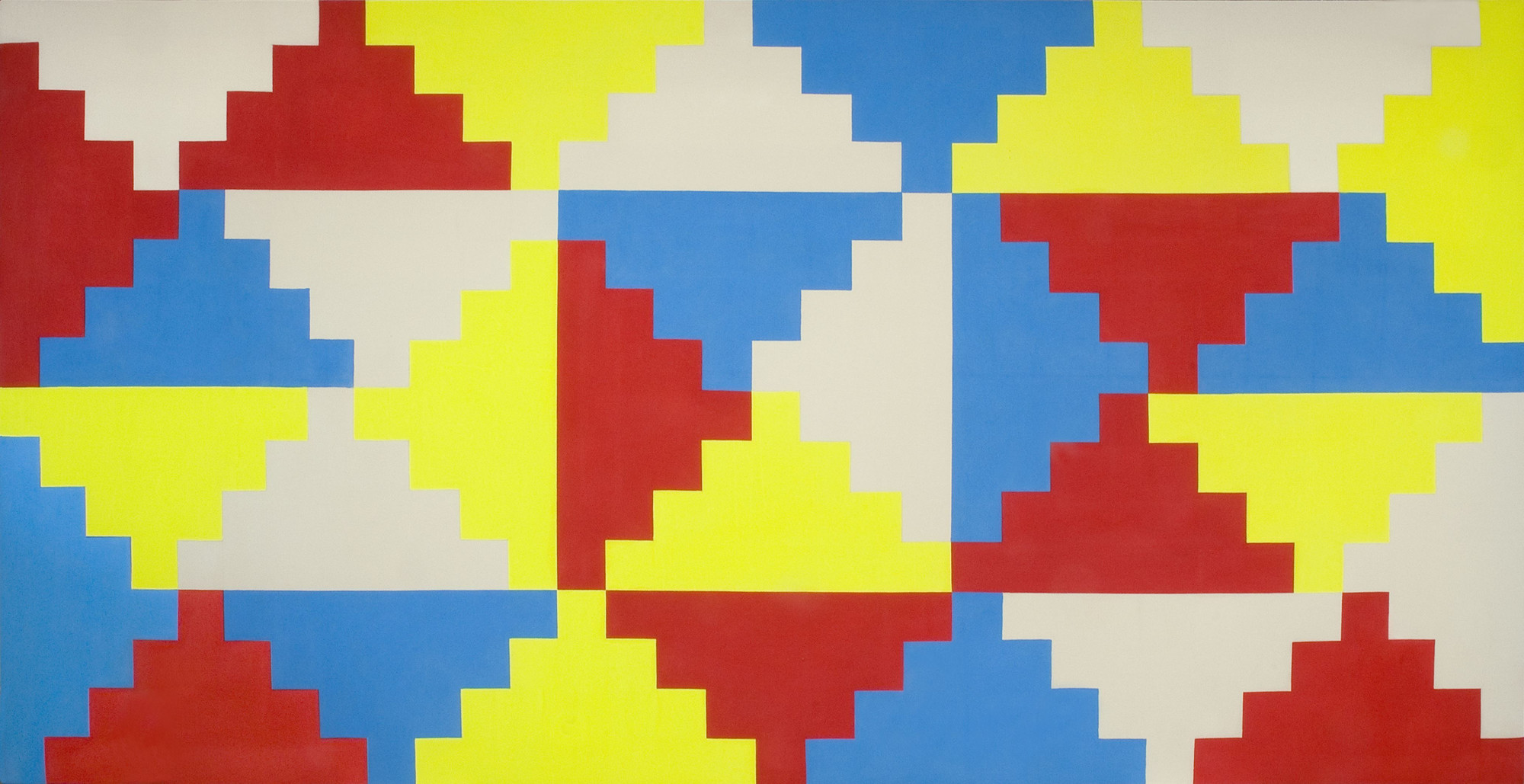 General Idea. Untitled (Ziggurat Painting #2). 1968-69