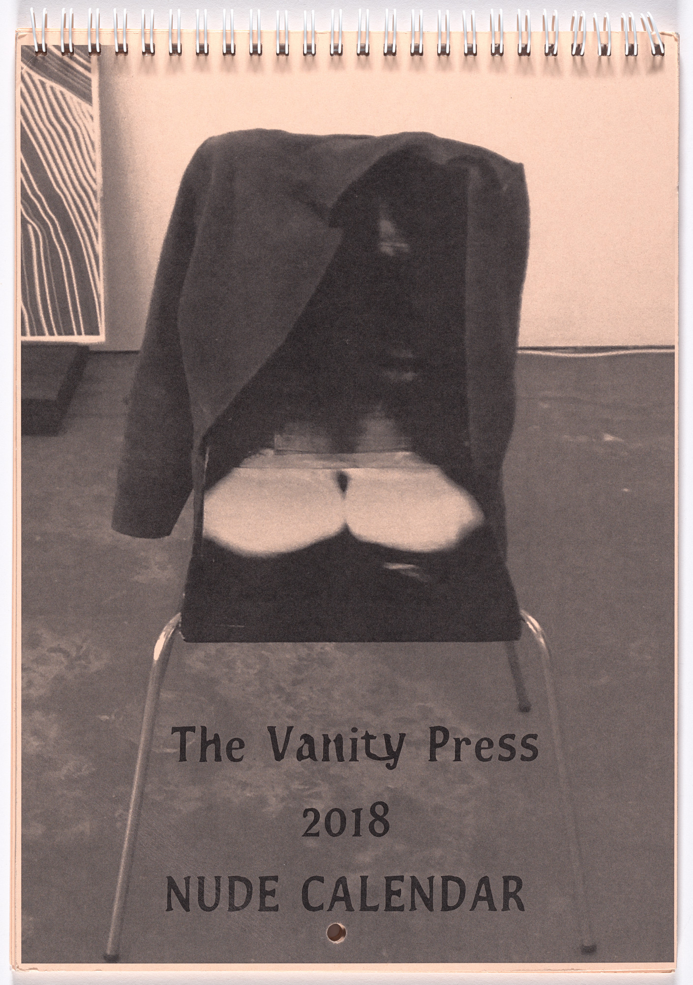 Fiona Banner. The Vanity Press 2018 Nude Calendar. 2017