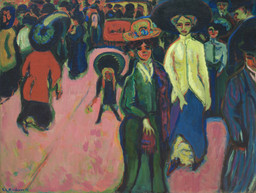 Ernst Ludwig Kirchner. Street, Dresden. 1908 (reworked 1919; dated on painting 1907)