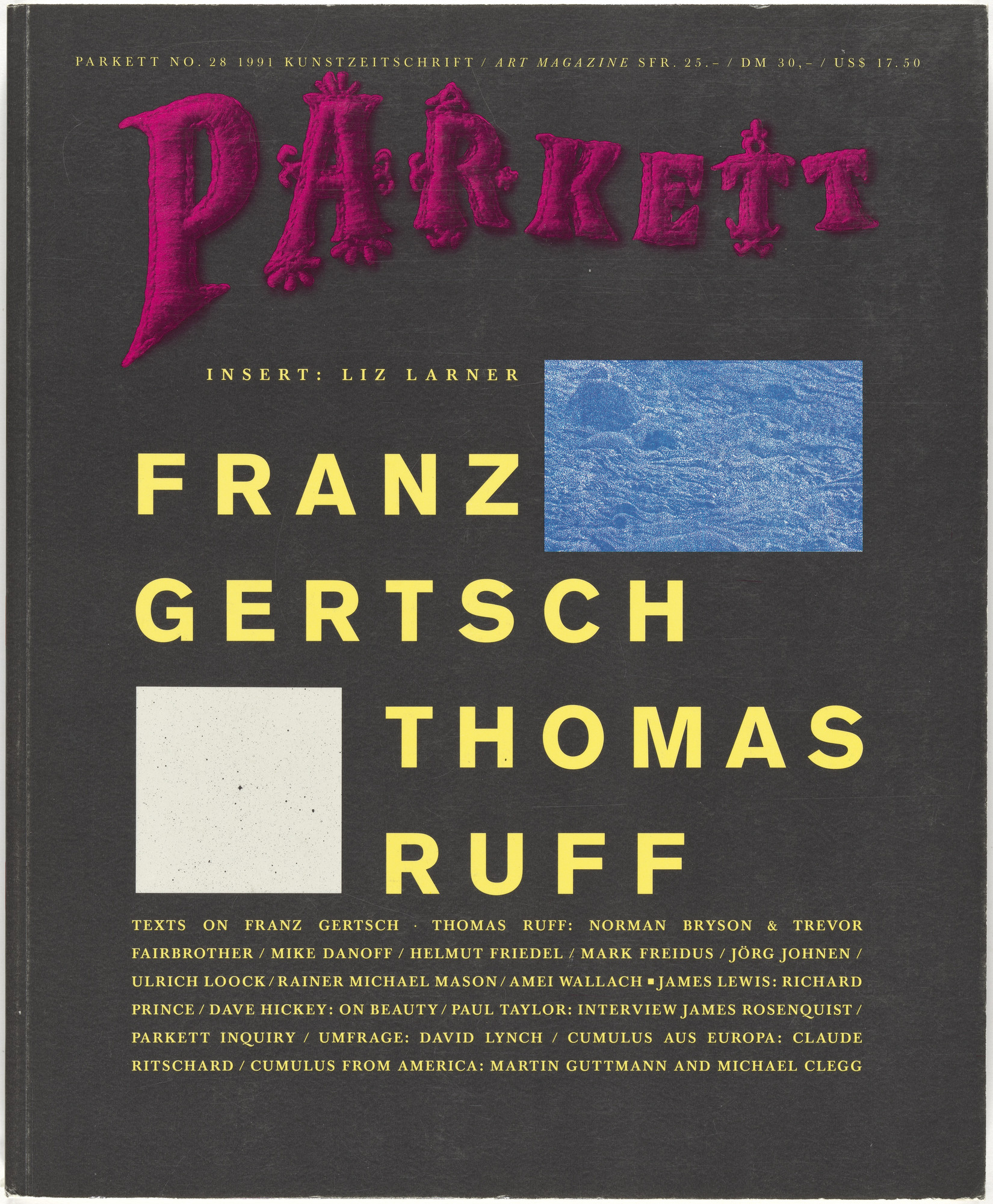 Various Artists, Franz Gertsch, Thomas Ruff, Liz Larner, Niele Toroni. Parkett no. 28. 1991