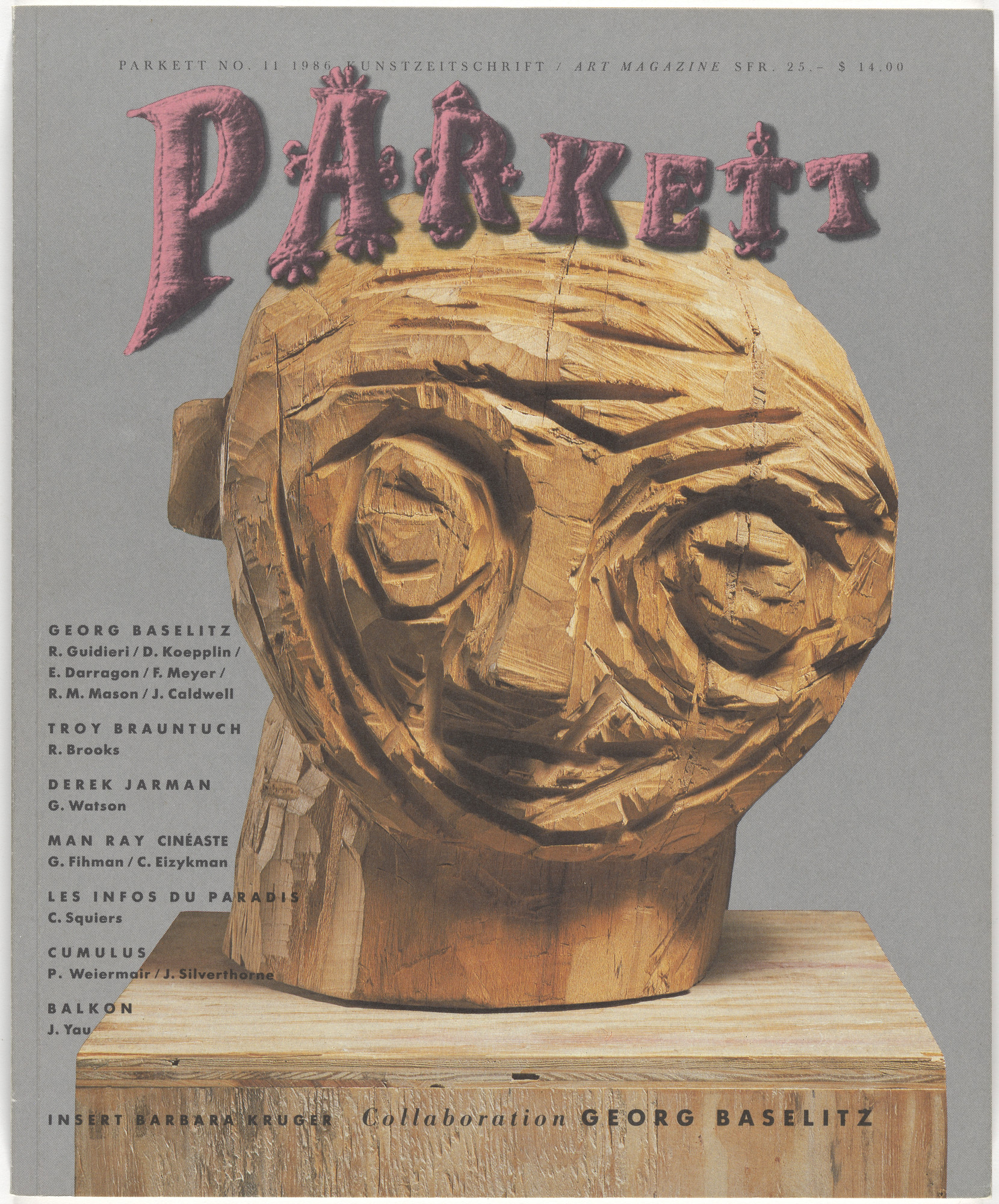 Various Artists, Georg Baselitz, Barbara Kruger. Parkett no. 11. 1986
