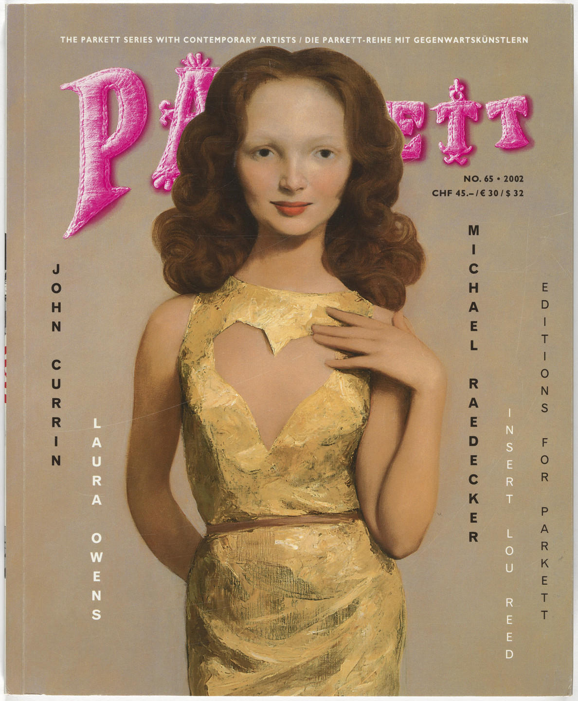 John Currin, Nic Hess, Laura Owens, Michael Raedecker, Lou Reed, Various Artists. Parkett no. 65. 2002