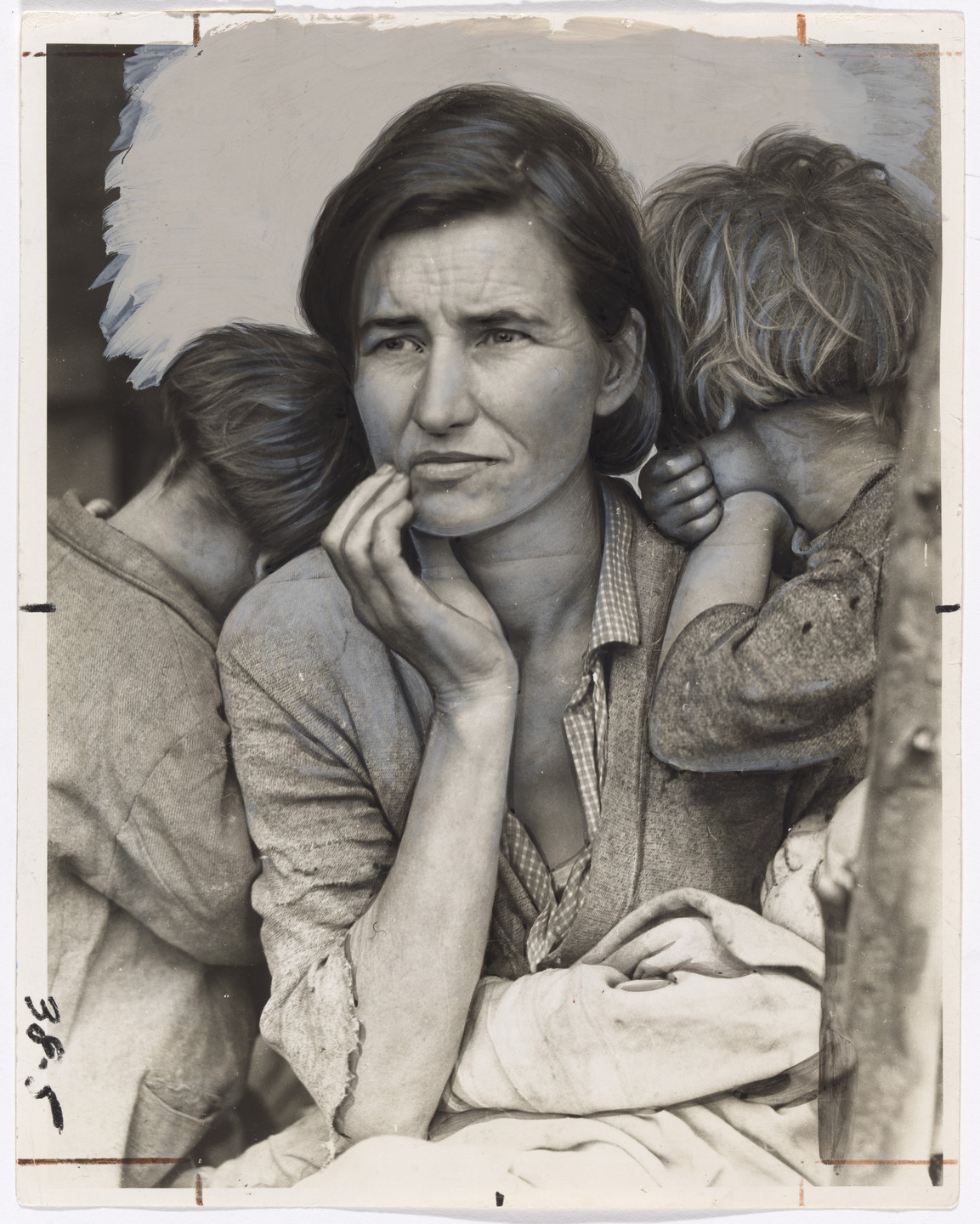 "Dorothea Lange. ""A Destitute Mother: The Type Aided by the WPA"". March 1936"