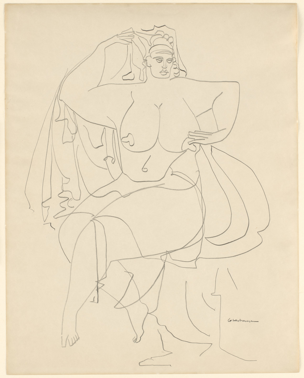 Gaston Lachaise. Seated Woman with Drapery. c. 1930–31