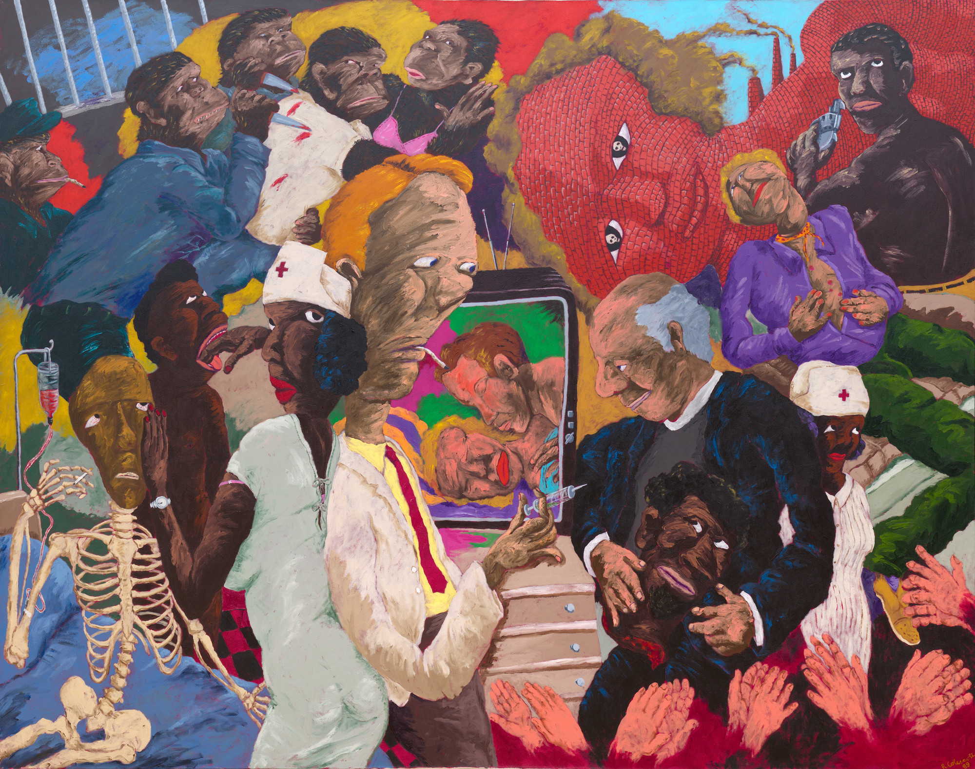 Robert Colescott. Emergency Room. 1989