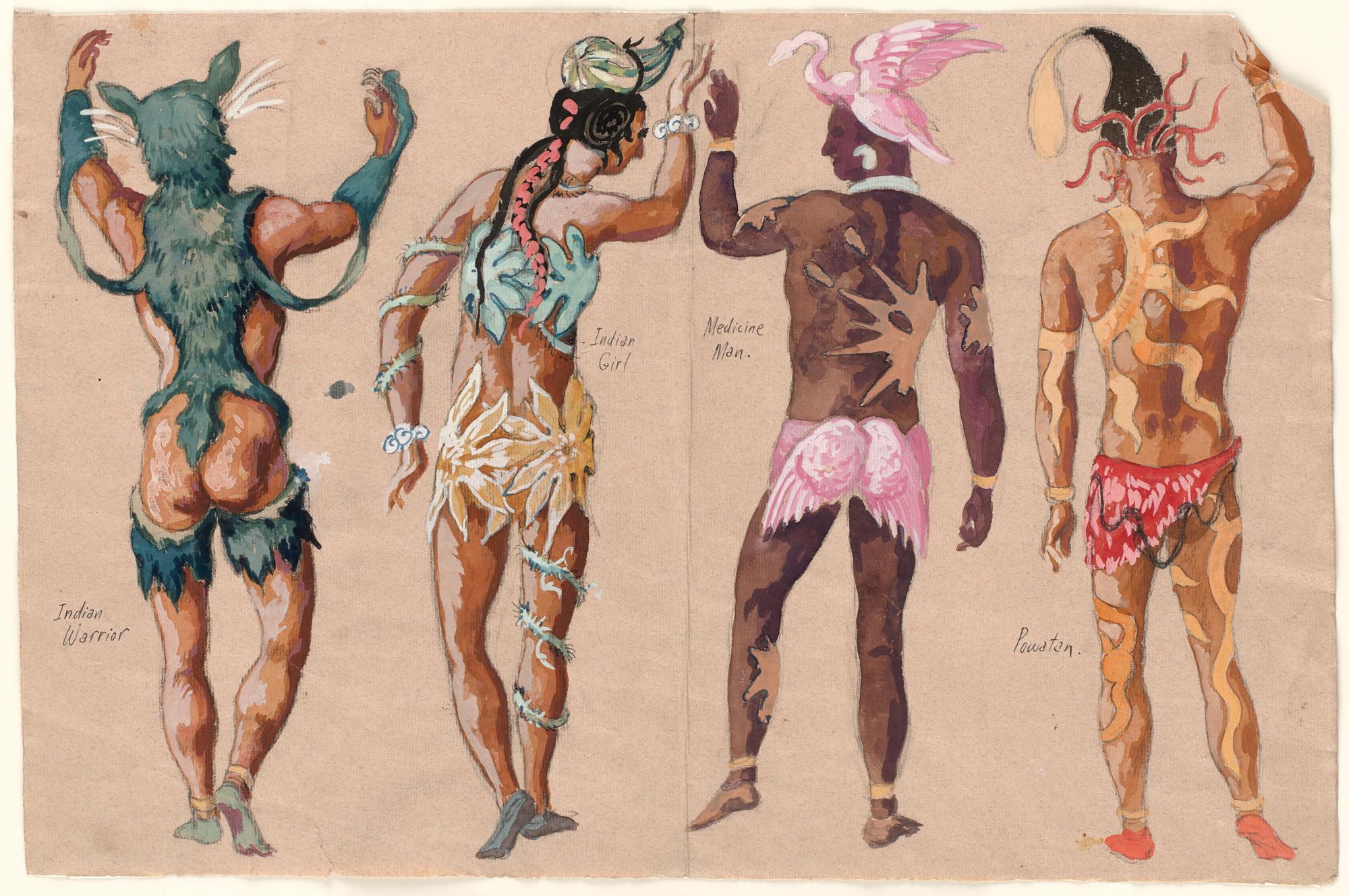 Karl Free  Indian Warrior, Indian Girl, Medicine Man