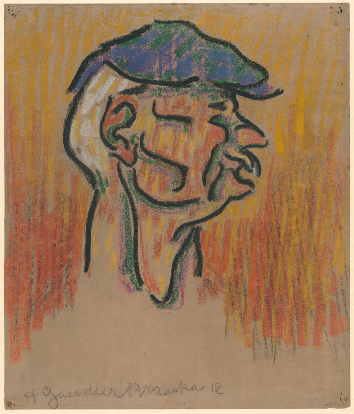 Henri Gaudier-Brzeska. A Labourer (Man with Cap). 1912