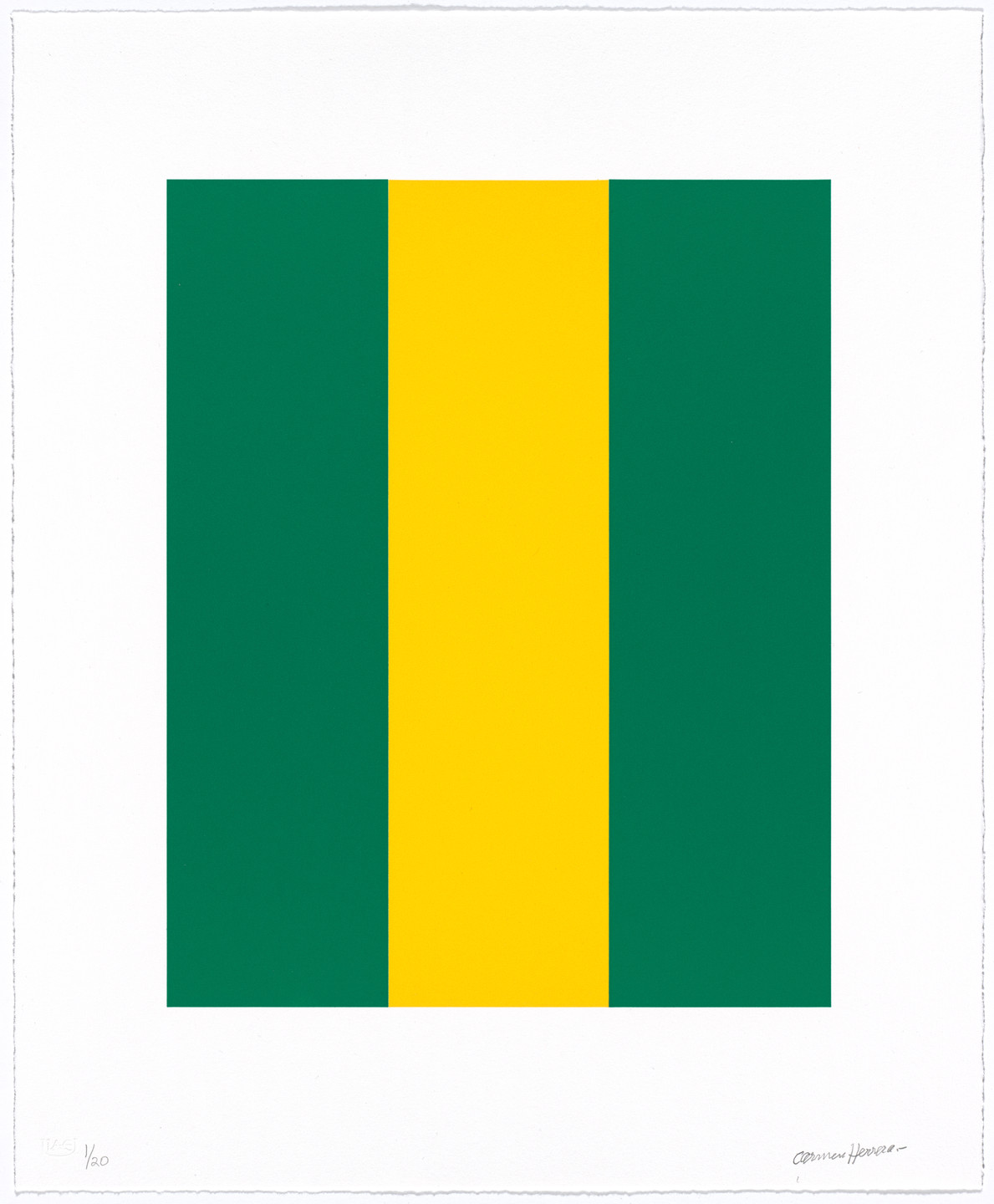 Carmen Herrera. Untitled from Verde y Amarillo. 2017