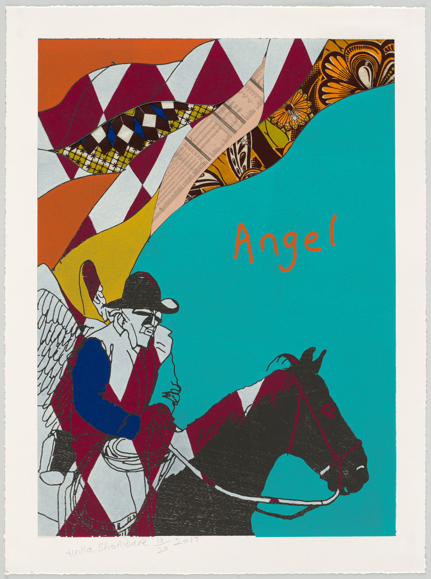 Yinka Shonibare. Cowboy Angels I from Cowboy Angels. 2017
