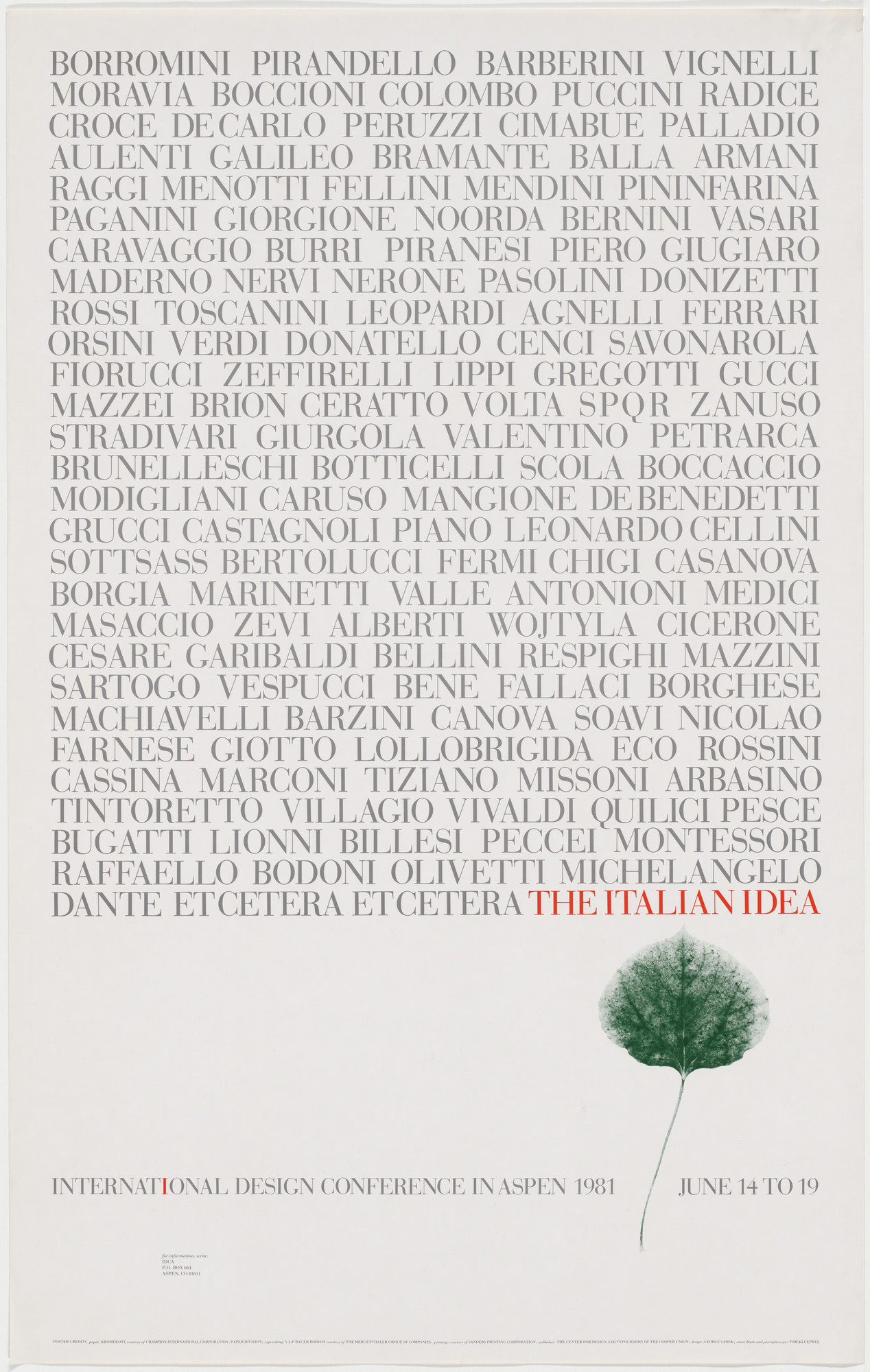 George Sadek  The Italian Idea, International Design
