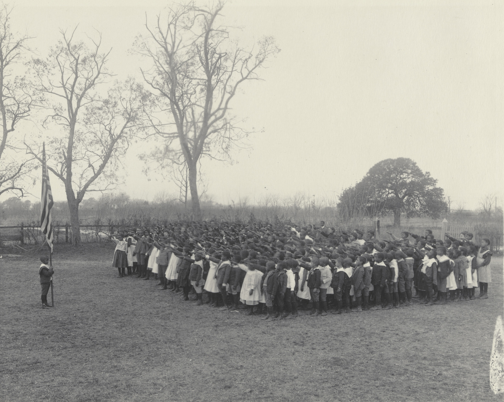 Frances Benjamin Johnston. Saluting the Flag at the Whittier Primary School. 1899-1900