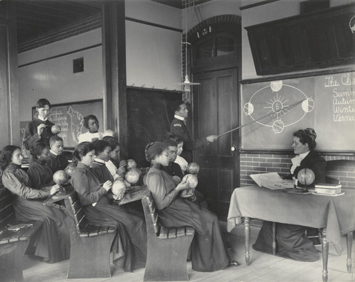 Frances Benjamin Johnston. Geography: Studying the Seasons from the Hampton Album. 1899-1900