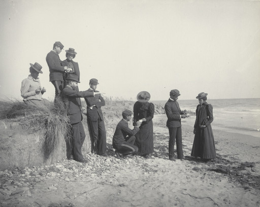 Frances Benjamin Johnston. Agriculture. Studying the soil at the beach, or formation of soil by active water. 1899-1900