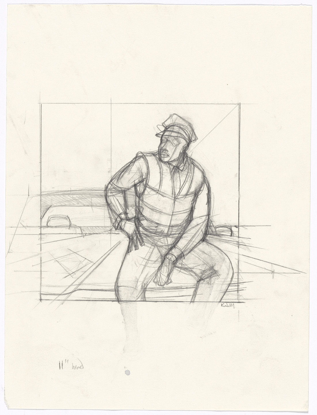 Kerry James Marshall. Untitled study for Untitled (policeman). c. 2015