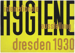 Erich Mrozek. Poster design for International Hygiene Exhibition (Internationale Hygiene Ausstellung), Dresden, May–October 1930. 1930