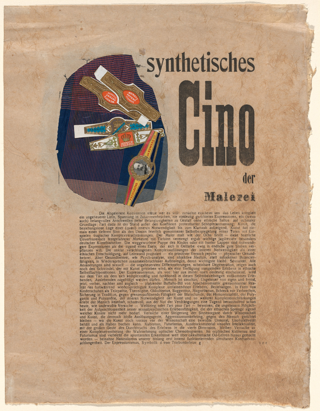 Raoul Hausmann. Synthetic Cinema of Painting (Synthetisches Cino der Malerei). c. 1918–19