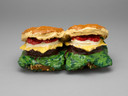 Claes Oldenburg. Two Cheeseburgers, with Everything (Dual Hamburgers). 1962