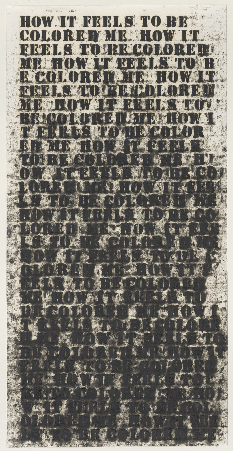 Glenn Ligon. Untitled (How It Feels to be Colored Me). 1991