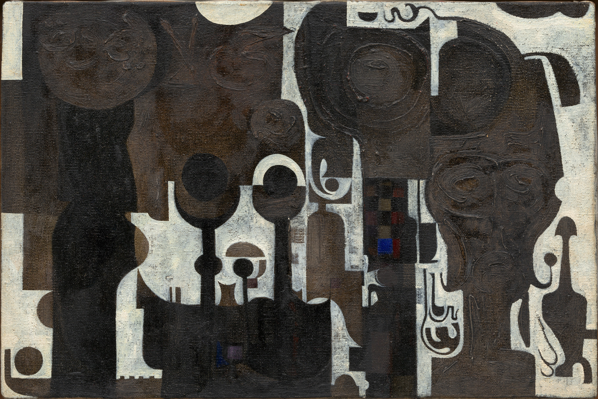 Ibrahim El-Salahi. The Mosque. 1964