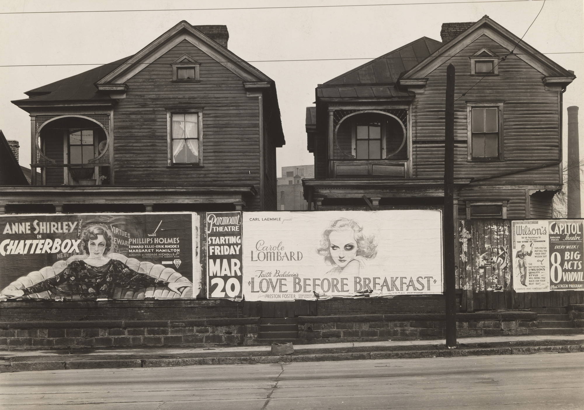 Walker Evans. Houses and Billboards in Atlanta. 1936