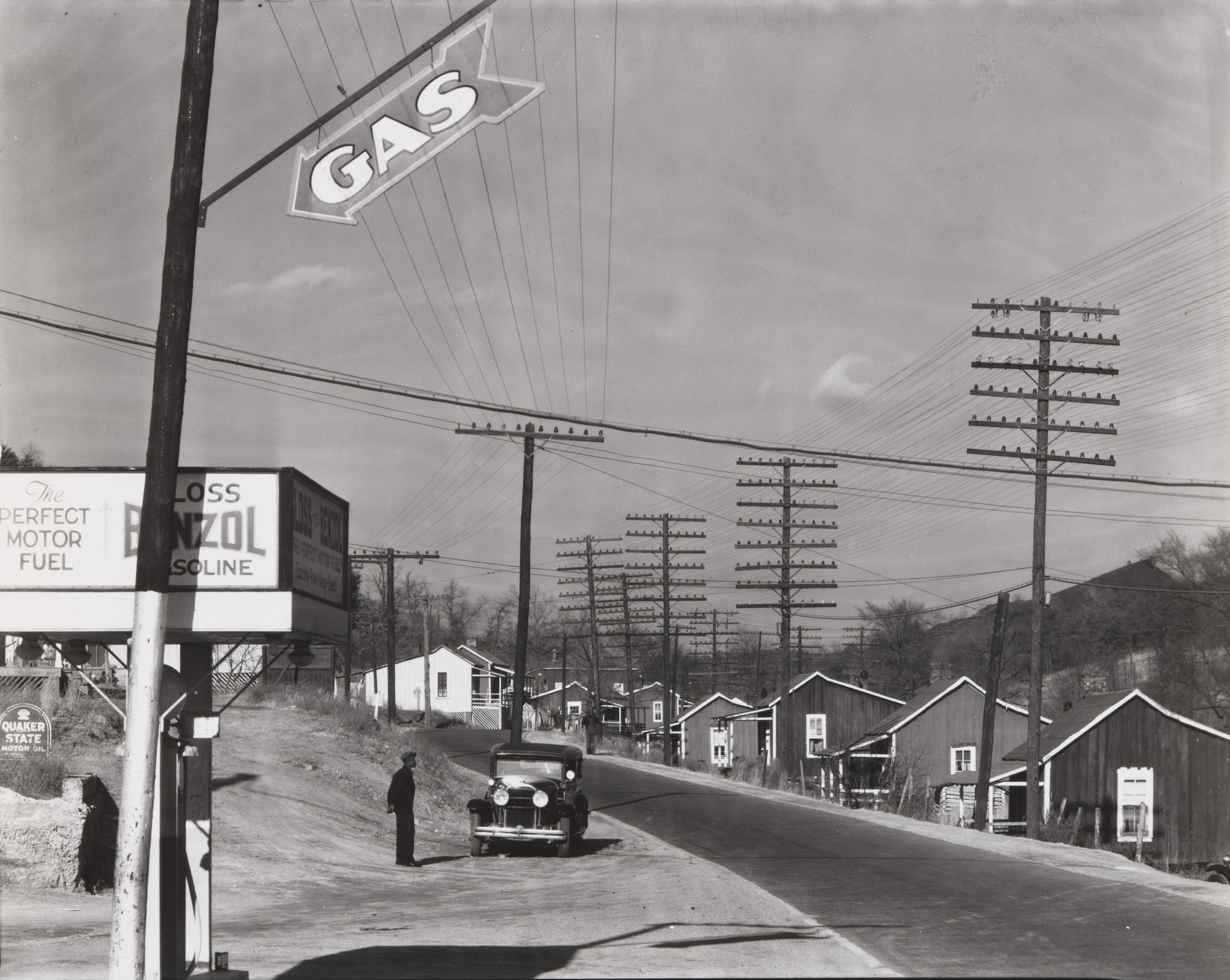 Walker Evans. Roadside View, Alabama Coal Area Company Town. 1936