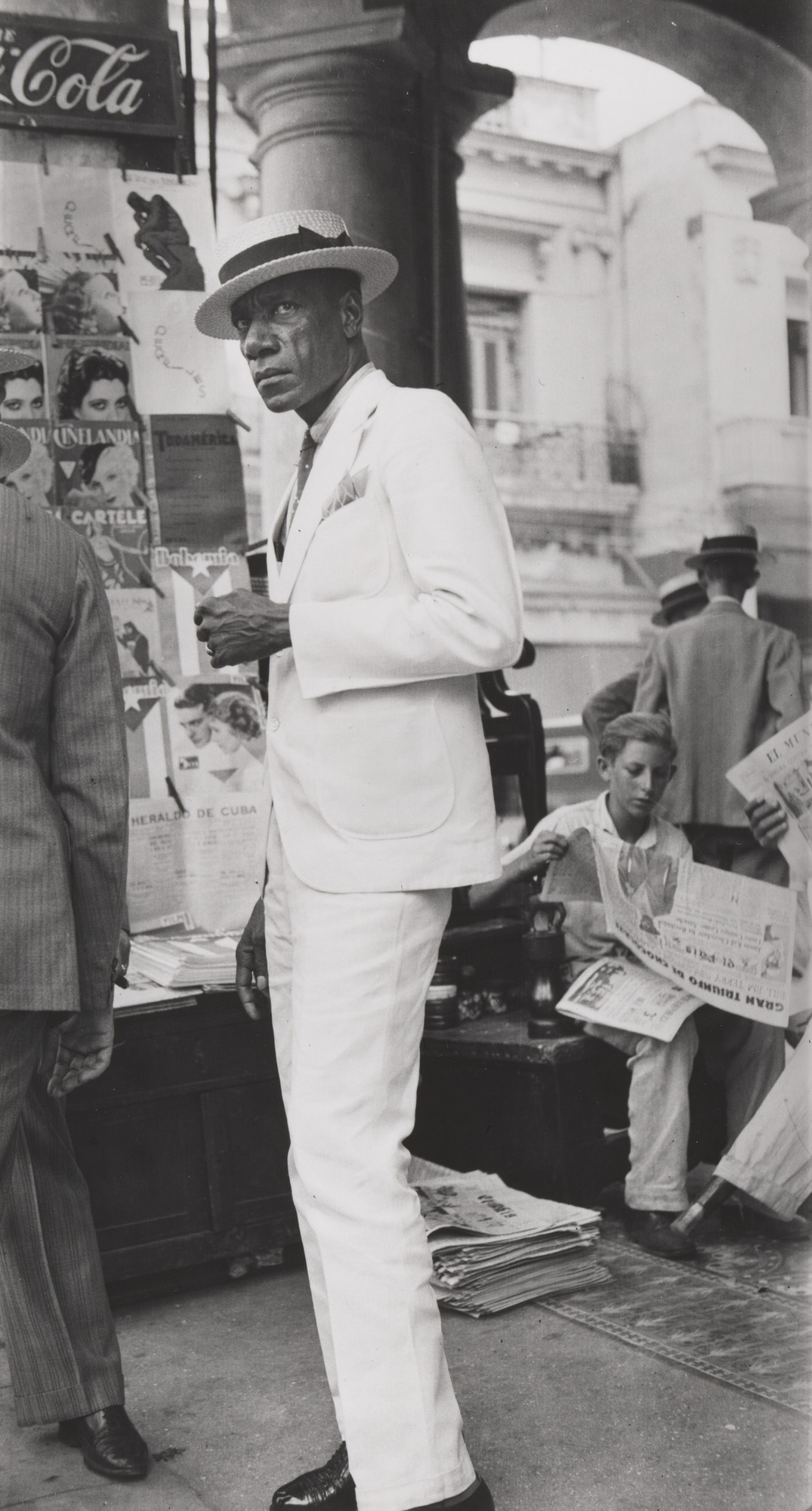 Walker Evans. Citizen in Downtown Havana. 1932