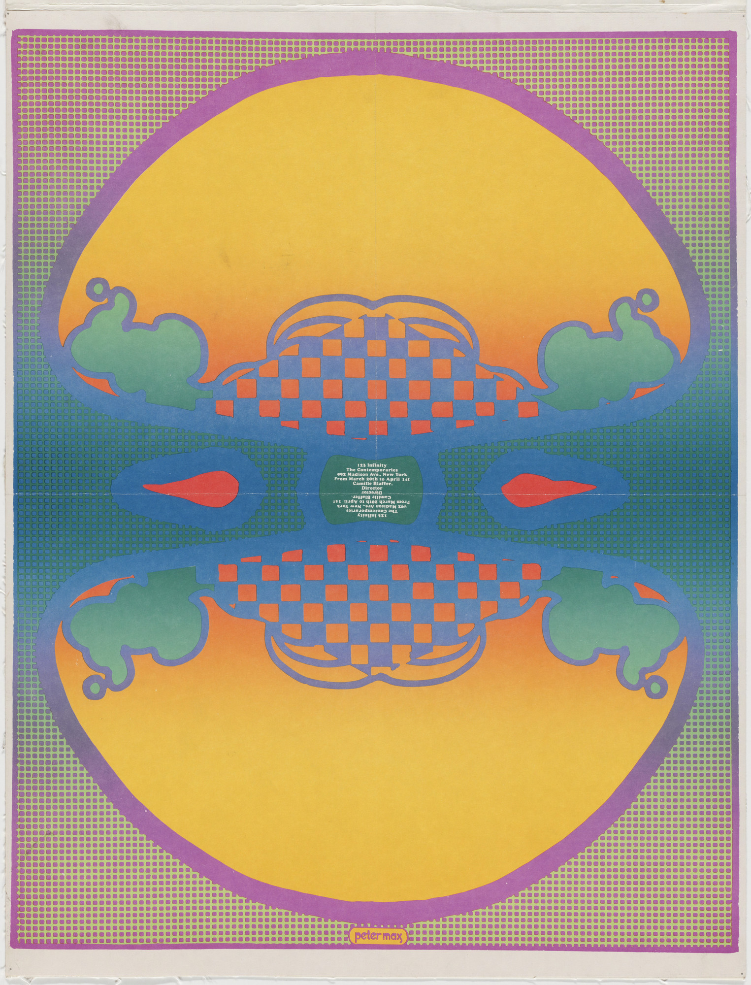 Peter Max. 1 2 3 Infinity, The Contemporaries. 1967