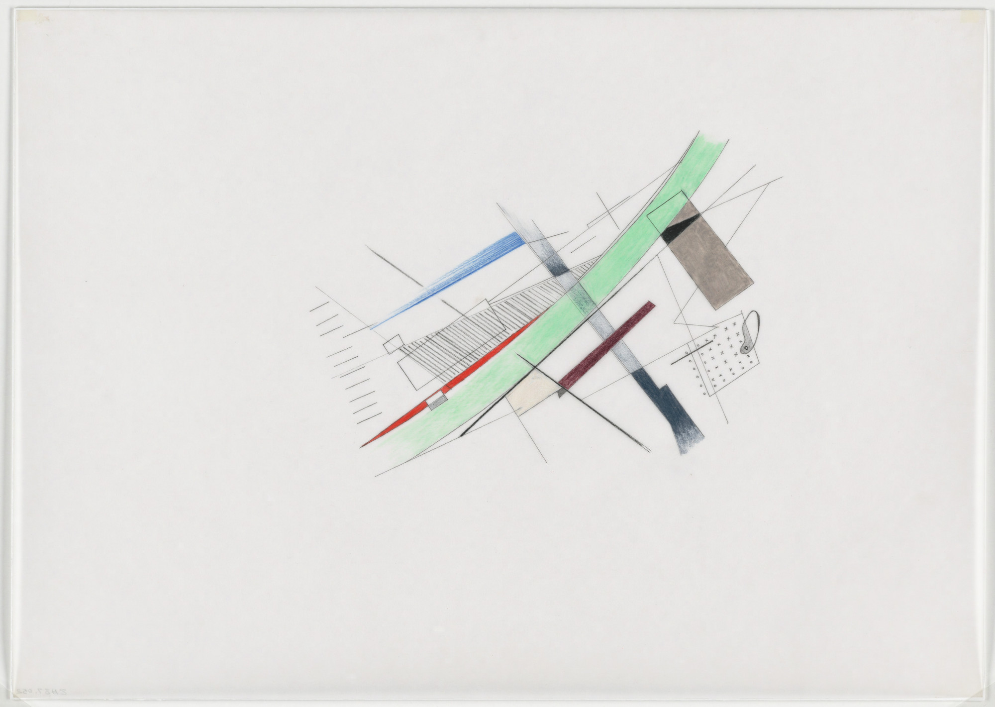 Zaha Hadid. Parc de la Villette Project, Paris, France (Plot breakdown). 1982-83
