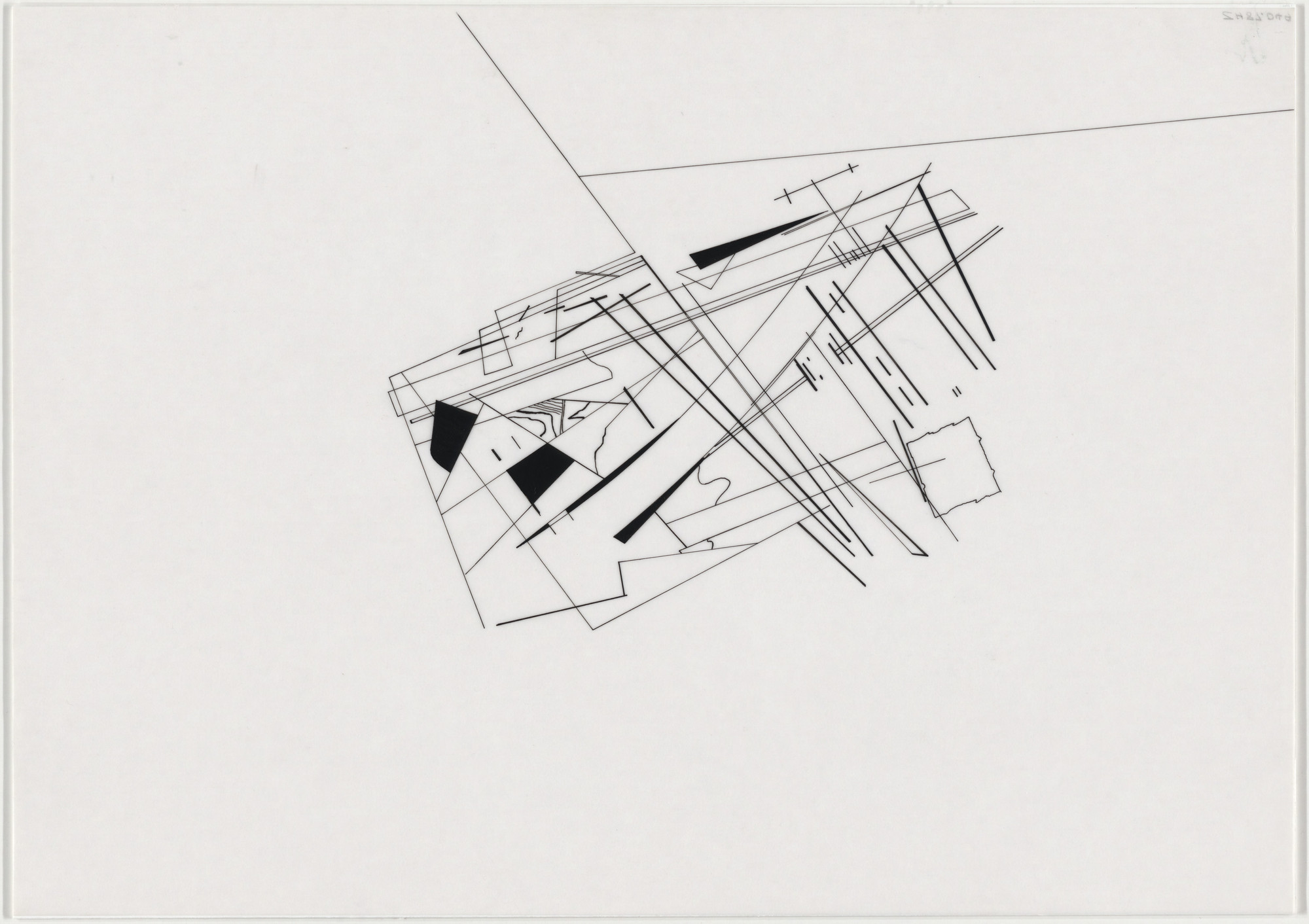 Zaha Hadid. Parc de la Villette Project, Paris, France (Composite [divisions of plot]). 1982-83
