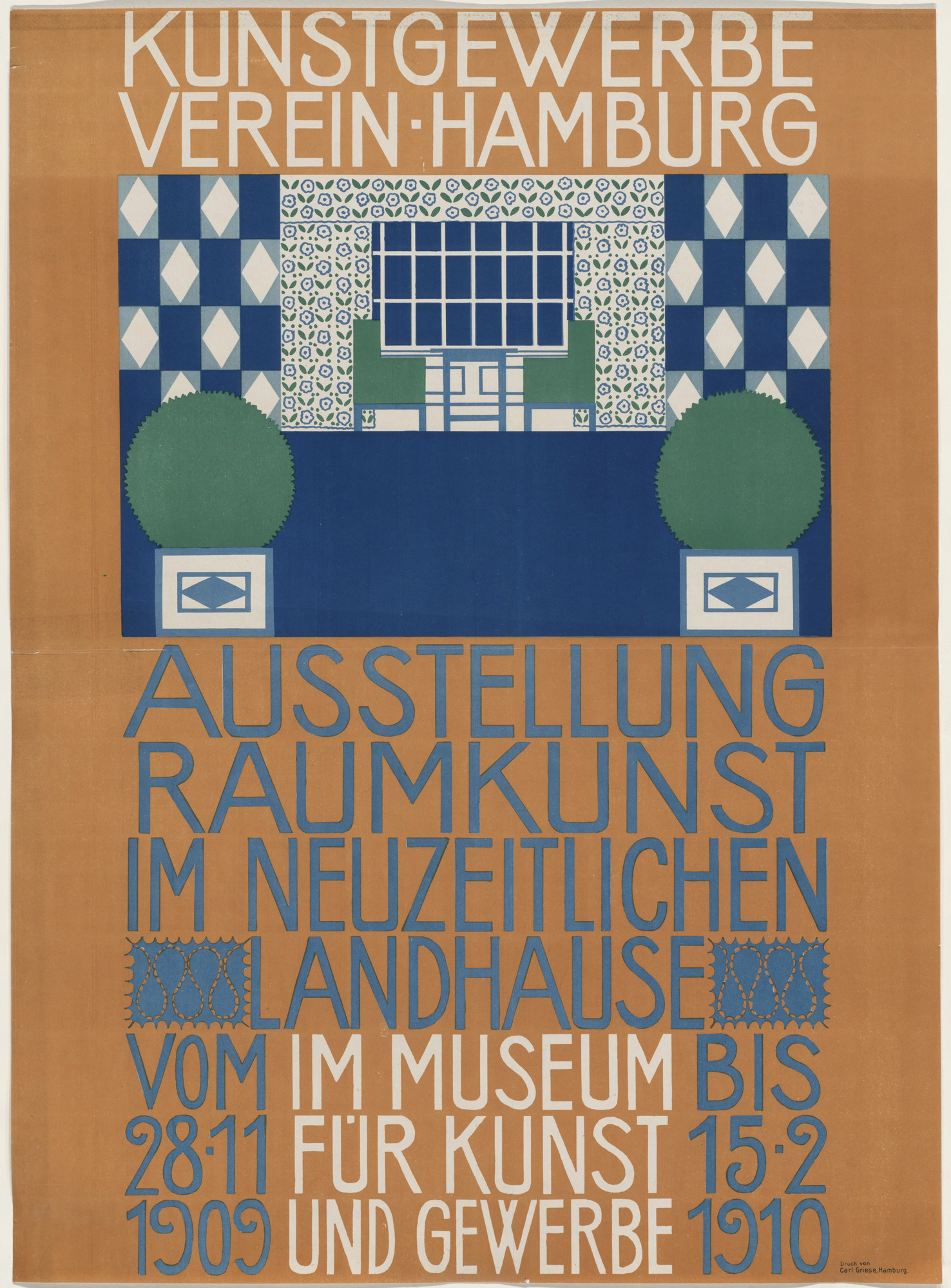 Otto Struck. Ausstellung Raumkunst im Neuzeitlichen Landhause [Exhibition of Interior Decoration in Contemporary Houses]. 1909