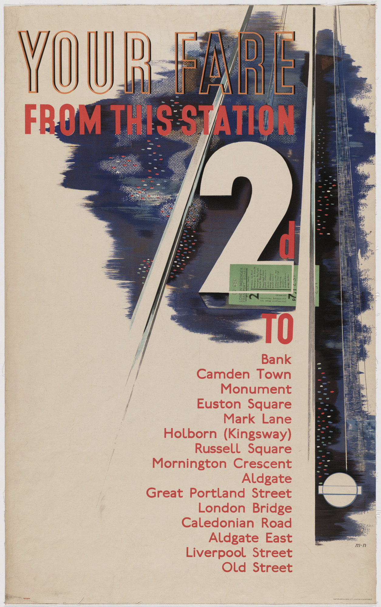 László Moholy-Nagy. Your Fare From This Station (Poster for London Transport). 1936