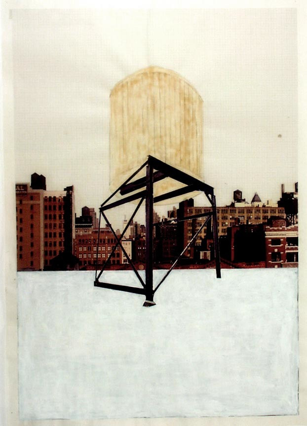 Rachel Whiteread. Drawing for Water Tower, III. (1997)