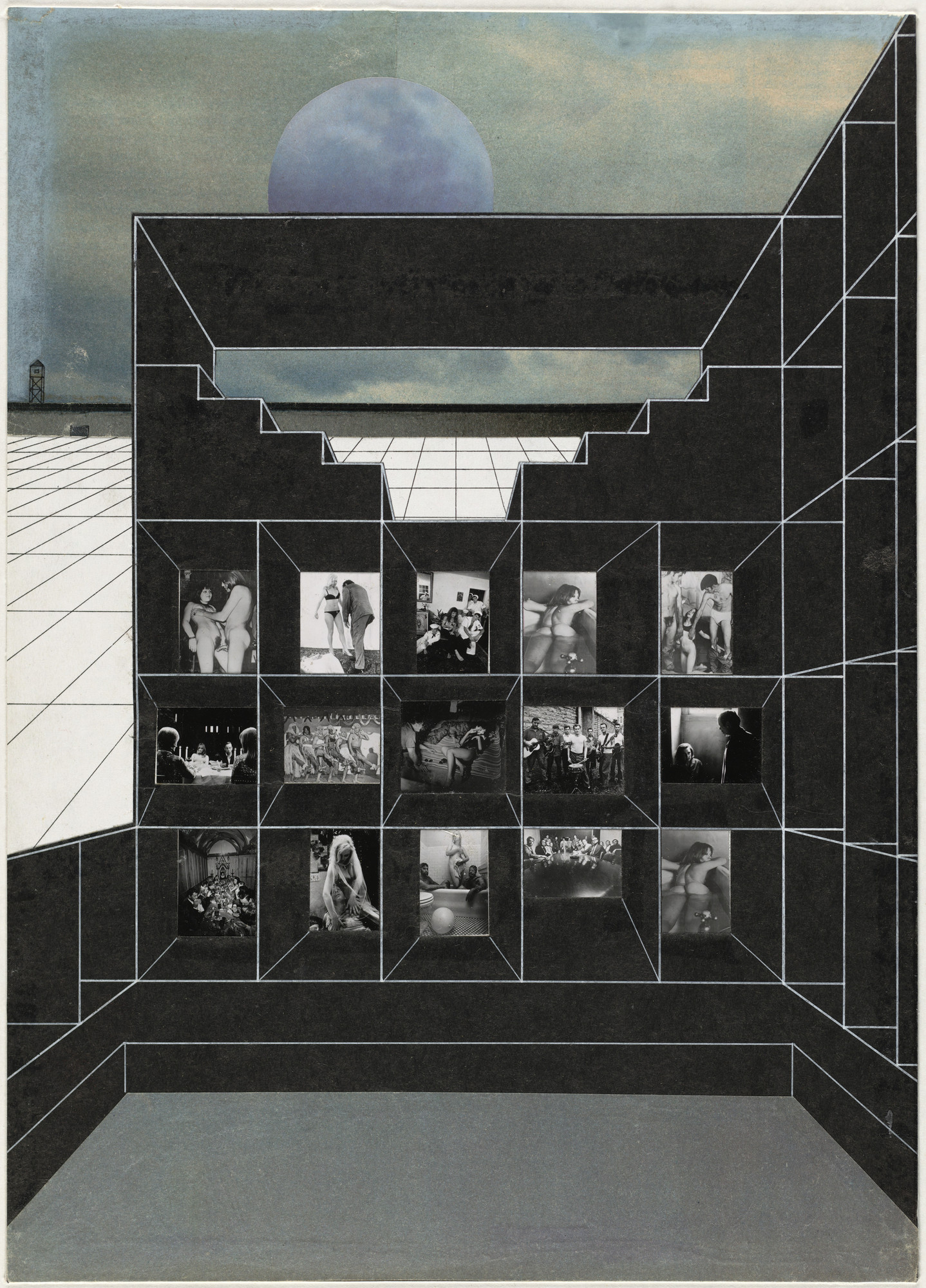 Rem Koolhaas, Elia Zenghelis, Madelon Vriesendorp, Zoe Zenghelis. Exodus, or the Voluntary Prisoners of Architecture: The Baths. 1972