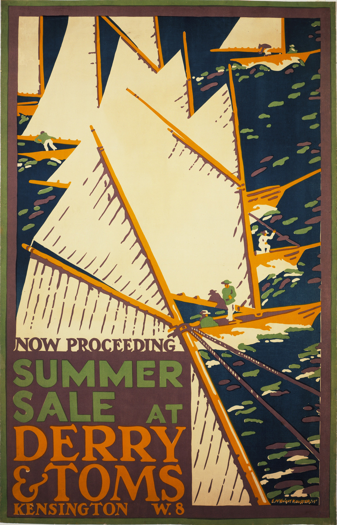 E. McKnight Kauffer. SUMMER SALE AT DERRY & TOMS. 1919