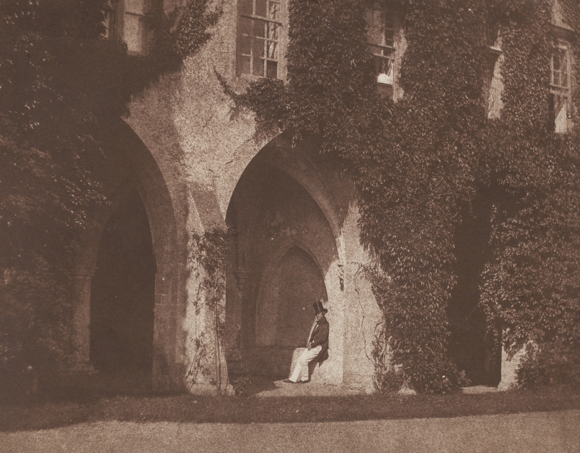 What Fox Talbot Could Have Done With >> William Henry Fox Talbot Seated Figure In The Cloisters Lacock