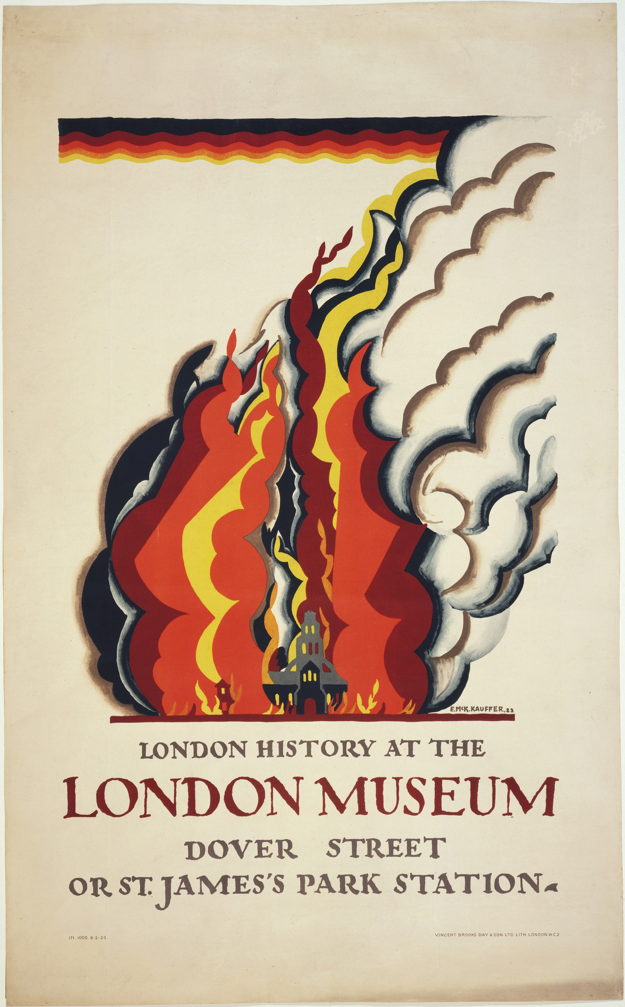 E. McKnight Kauffer. London History at the London Museum. 1922