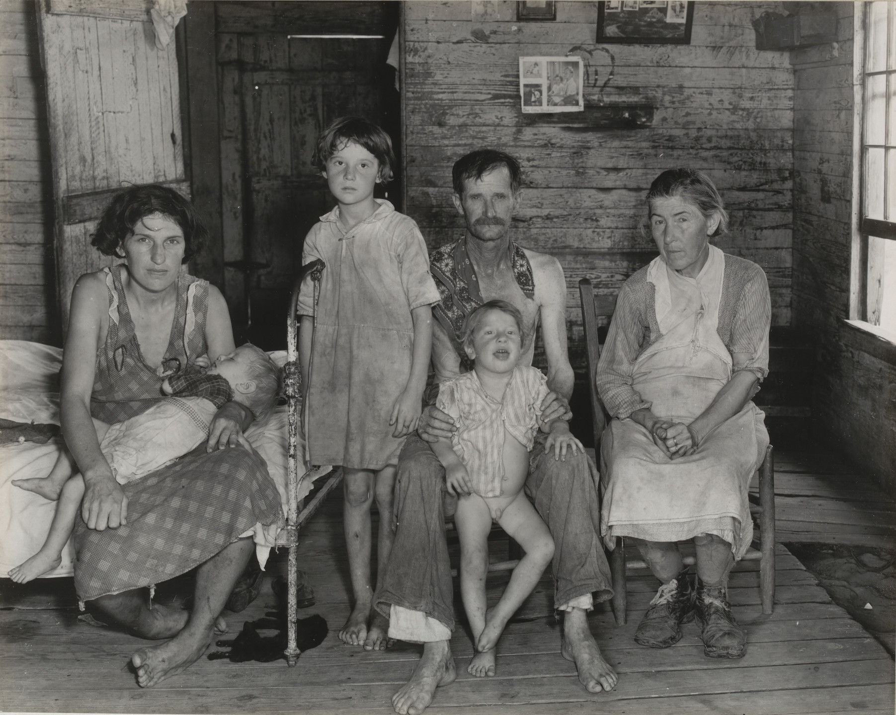 Walker Evans. Sharecropper's Family, Hale County, Alabama. March 1936