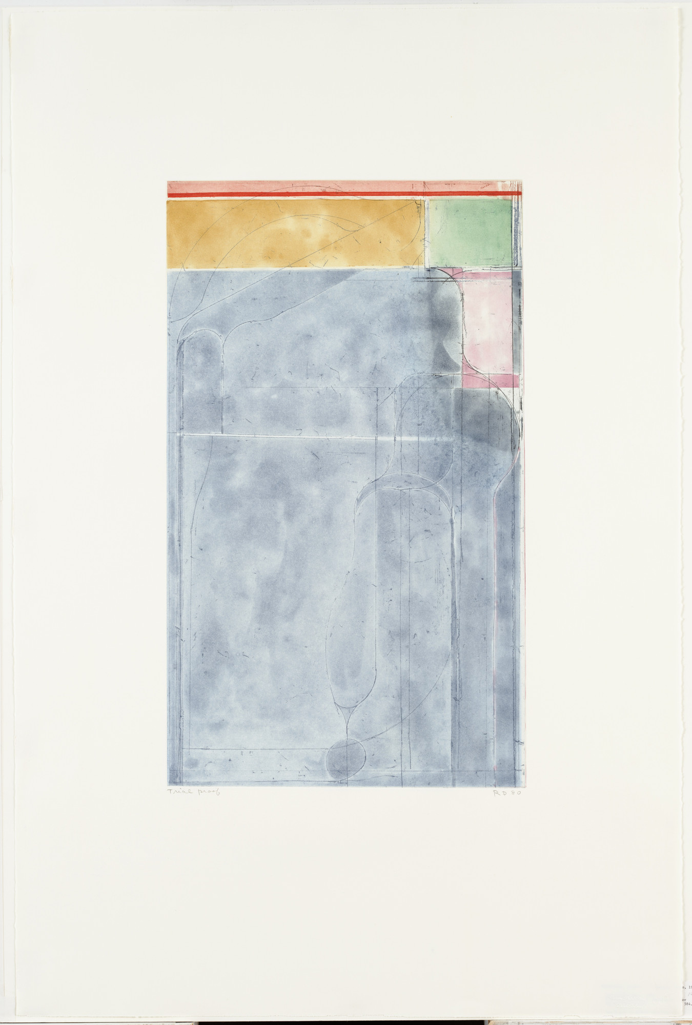 Richard Diebenkorn. Large Light Bluefrom Eight Color Etchings. 1980