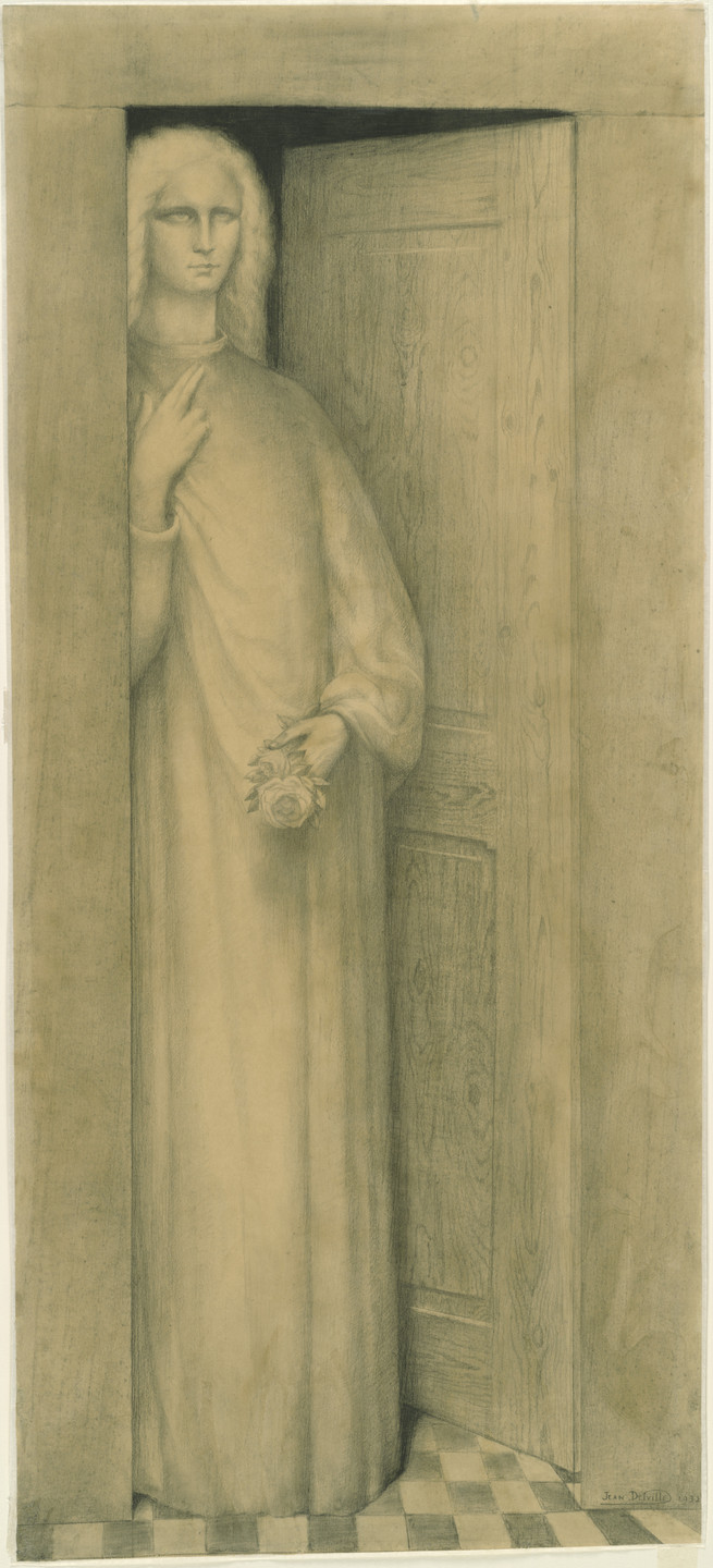 Jean Delville. Expectation. (1903) (inscribed 1933)