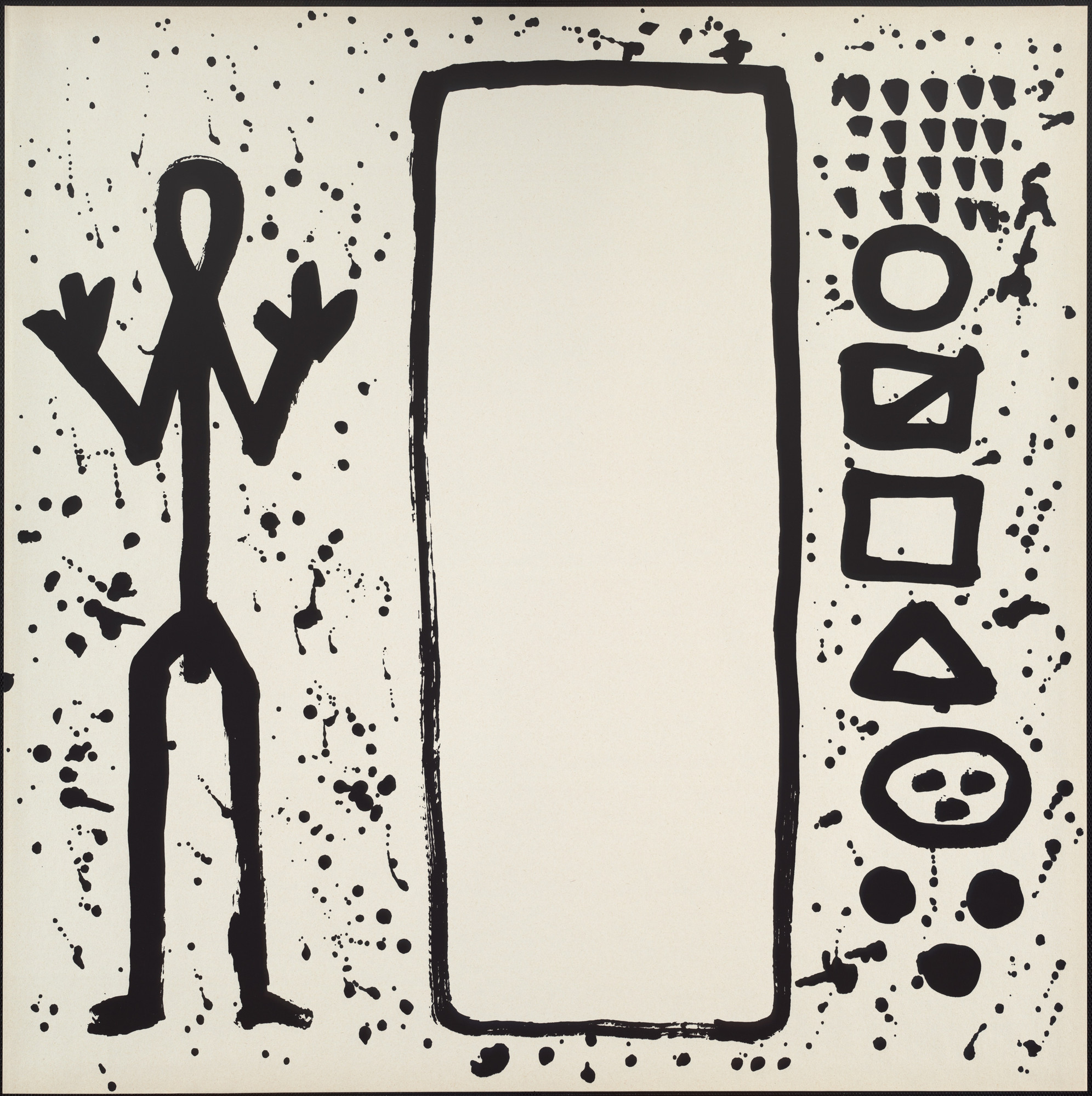 A.R. Penck (Ralf Winkler). Untitled from the portfolio Ur End Standart. 1972