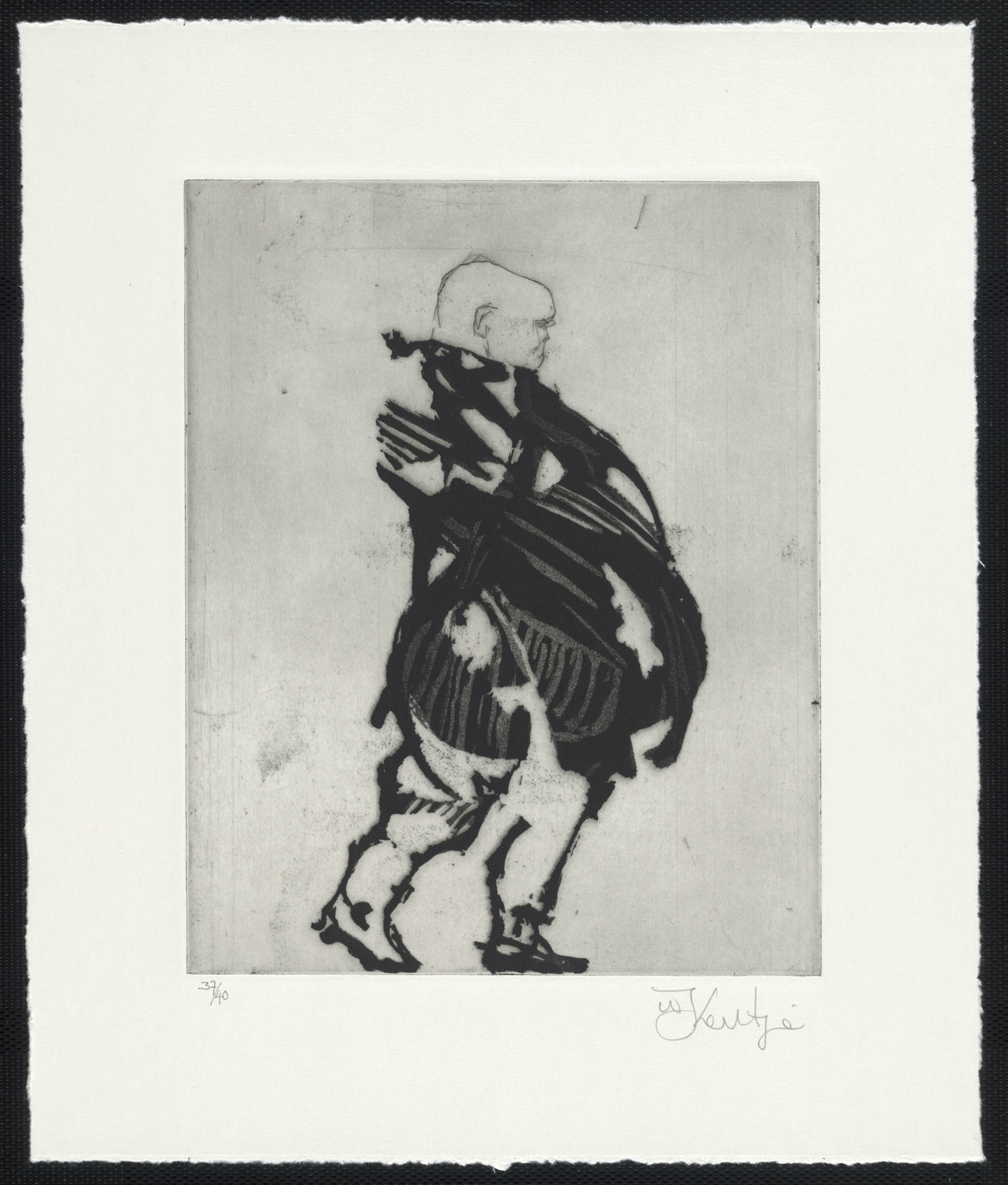 William Kentridge. Wrapped Man from Zeno at 4 A.M.. 2001