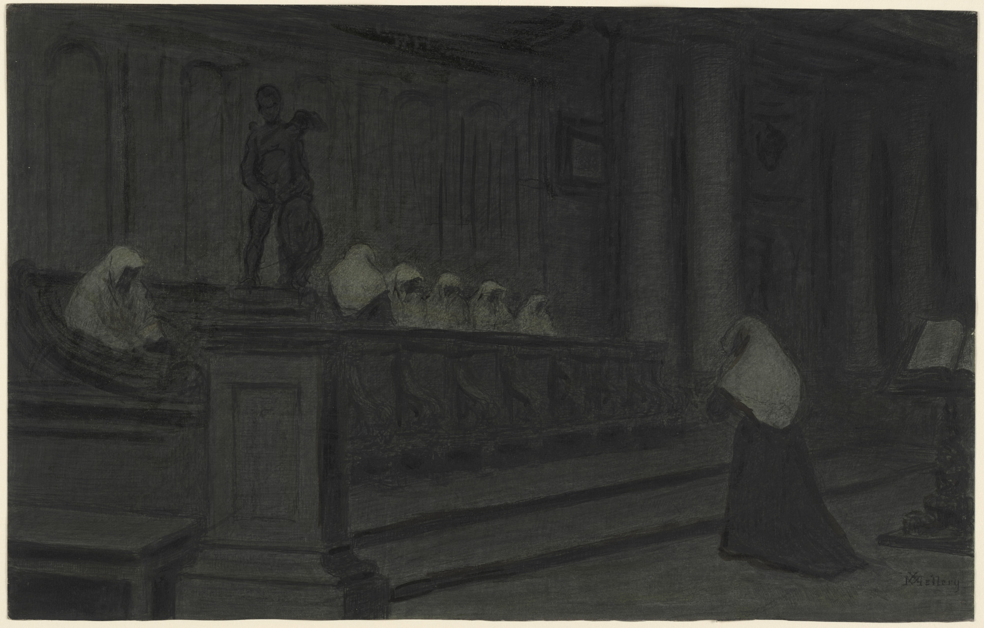 Xavier Mellery. Beguines at Prayer. (c. 1894)