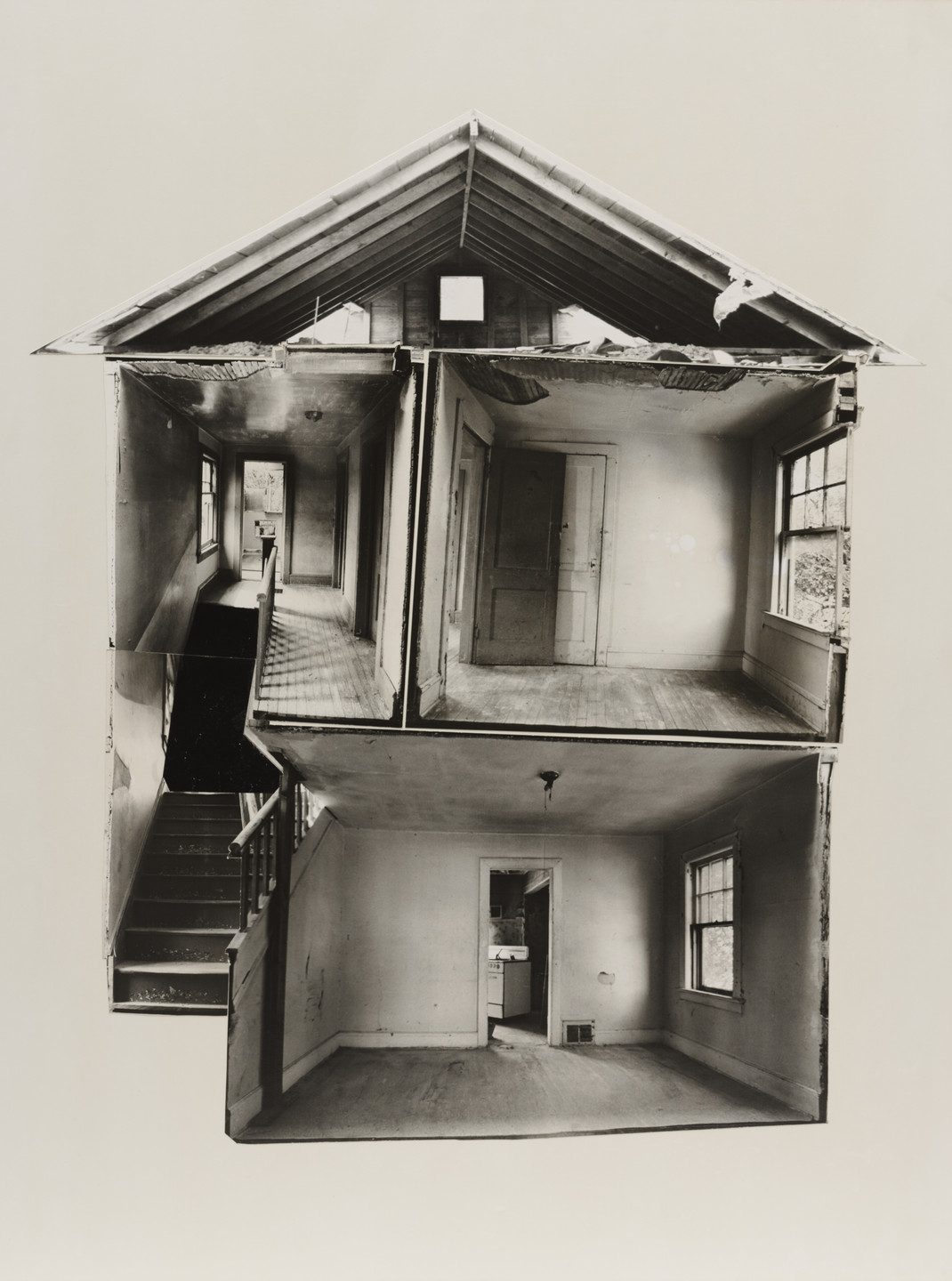 Gordon Matta-Clark. Splitting. 1974