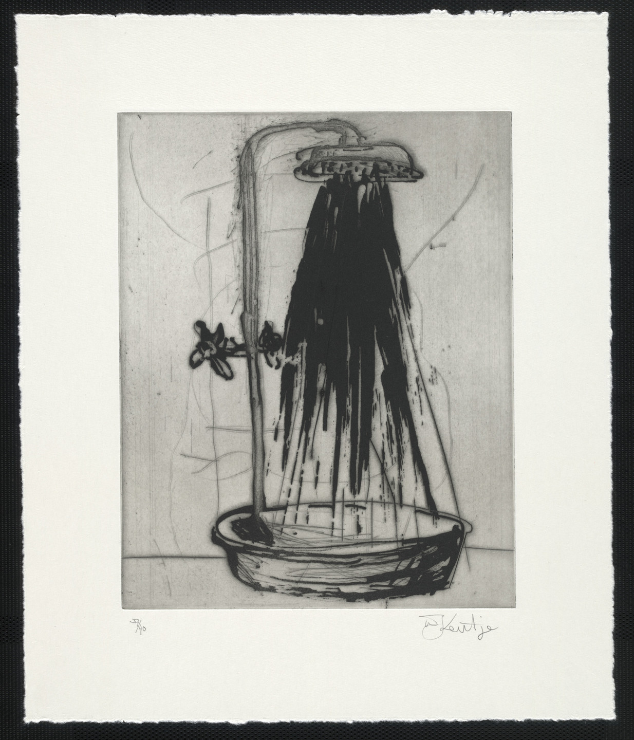 William Kentridge. Shower from Zeno at 4 A.M.. 2001