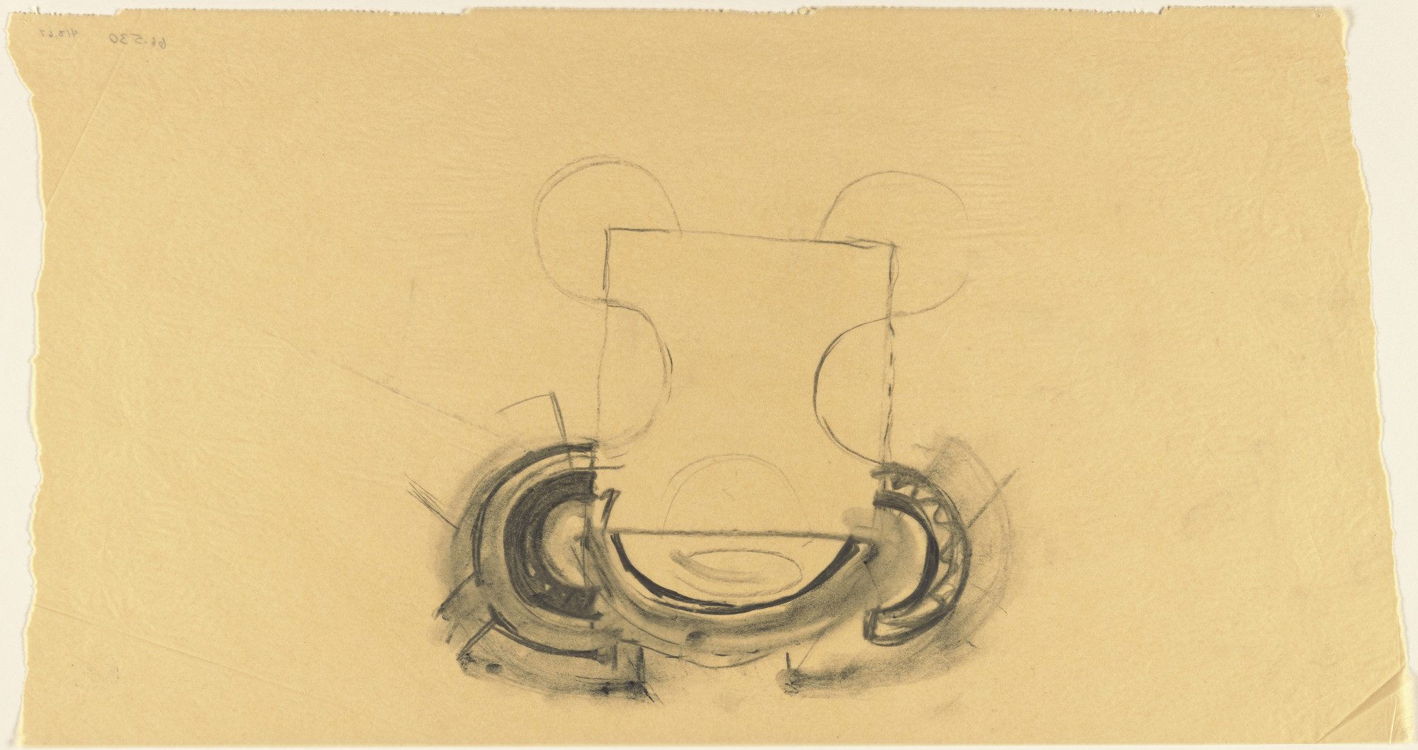 Louis I. Kahn. Sher-e-Bangla Nagar, Capital of Bangladesh, Dhaka, Bangladesh, Prayer Hall: plan sketch. 1965