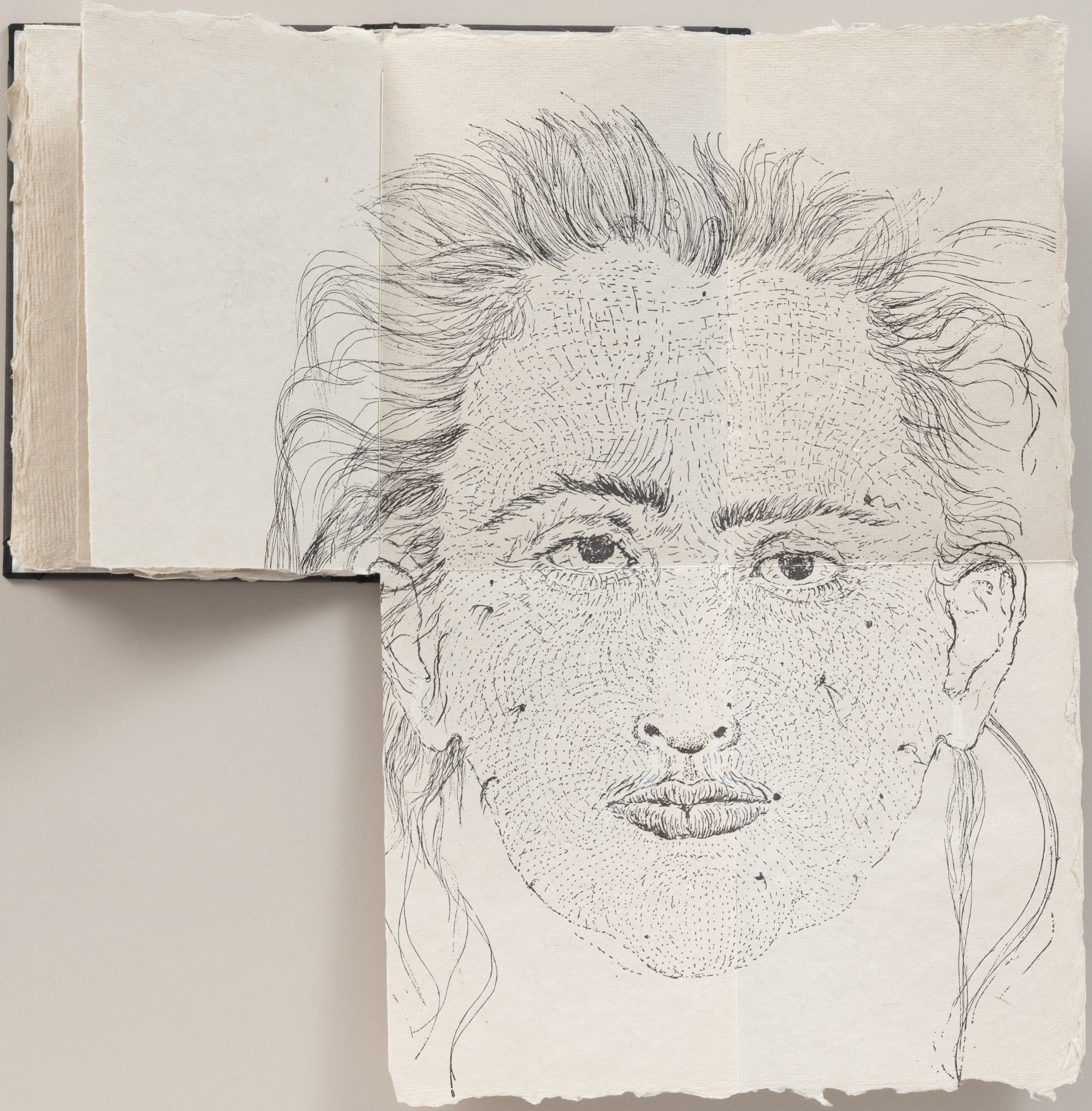 Kiki Smith. Fold-out five-page plate from Fountainhead. 1991