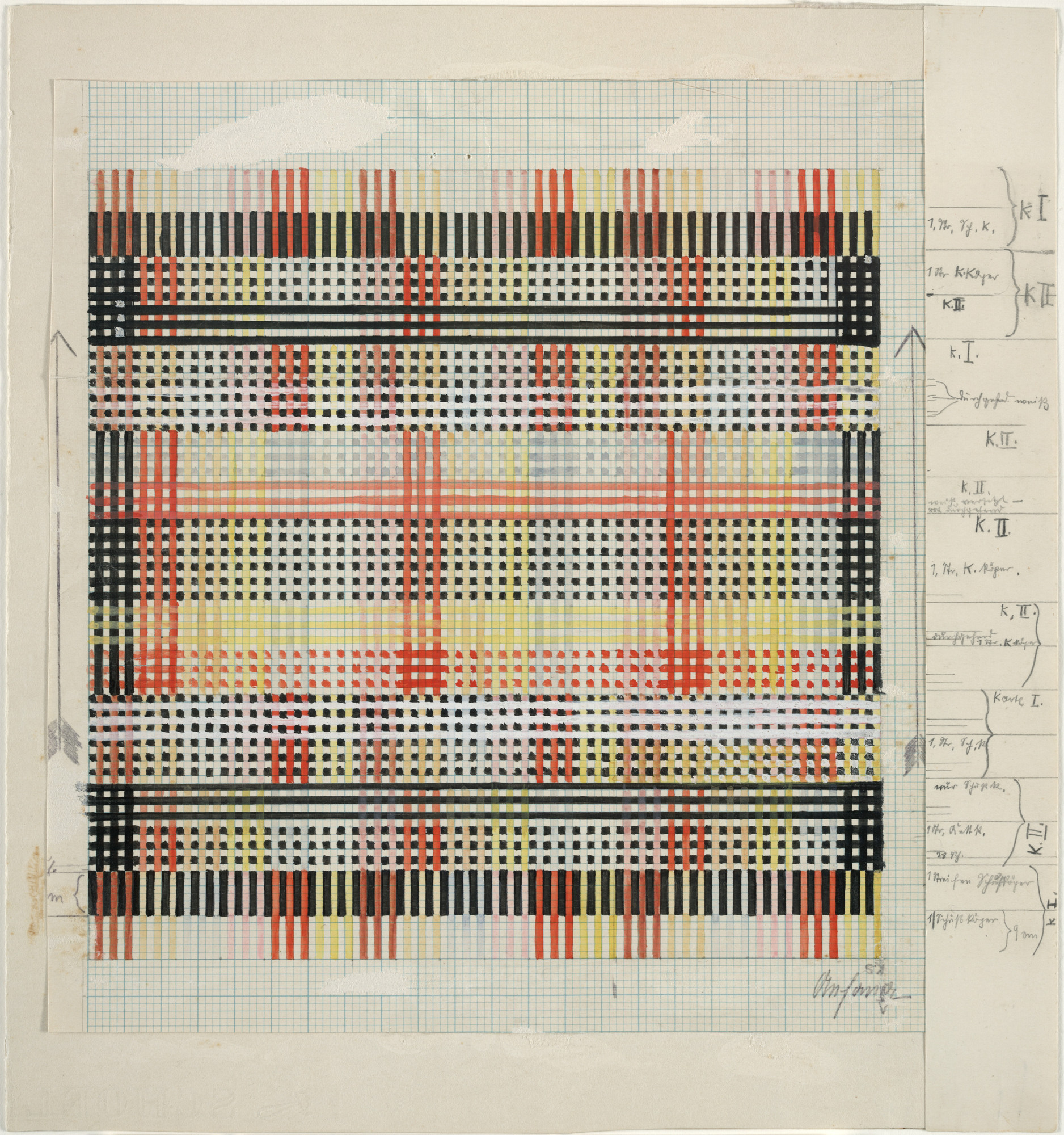 Anni Albers. Design for Tablecloth. 1930