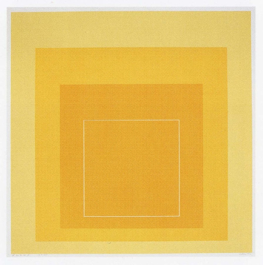 Josef Albers. WLS I from White Line Squares (Series I). 1966